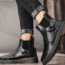 2021 Winter New Products Lovers Pu Fashion Trend British Fashion Lovers Boots Thick Bottom Mouth Com
