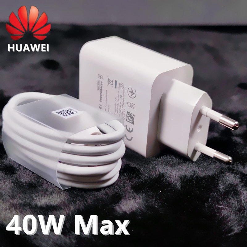 Huawei P40 Pro charger 40W SuperCharge USB 5A Type C cable For Huawei P40 P30 P20 Pro MATE 20 PRO Mate30 honor