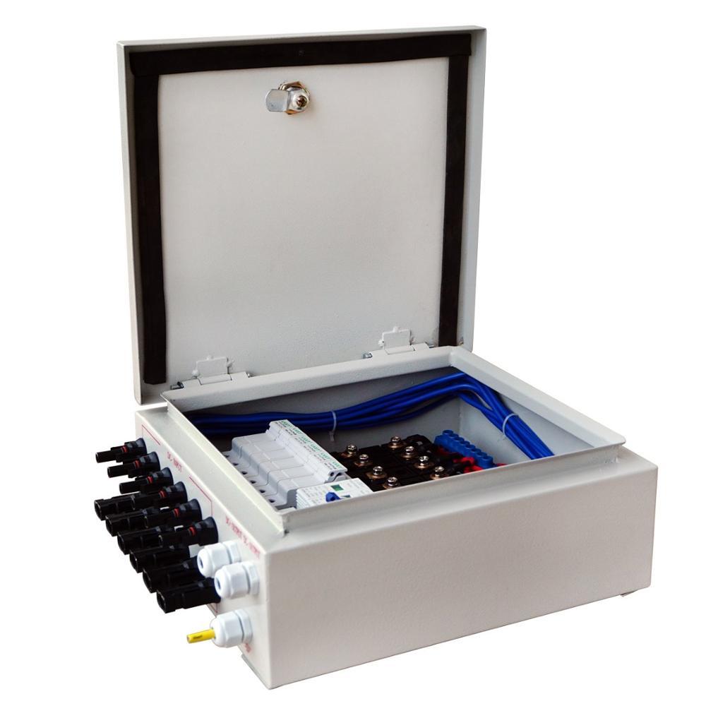 6 سلسلة لوحة طاقة شمسية صندوق الموحد مع 10A قطاع دارة PV