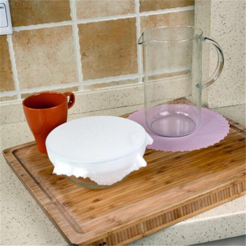 Cubierta reutilizable para mantenimiento fresco de alimentos, tapa elástica de silicona, posavasos de encaje, utensilios de cocina, accesorios de cocina