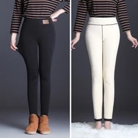 new fashion high waist autumn winter women thick warm elastic pants quality s 5xl trousers tight type pencil pants new fashion