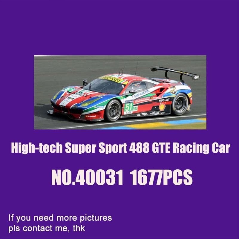 veiculo de corrida serie tecnica 42125 modelo gte 488 blocos de montar presente de