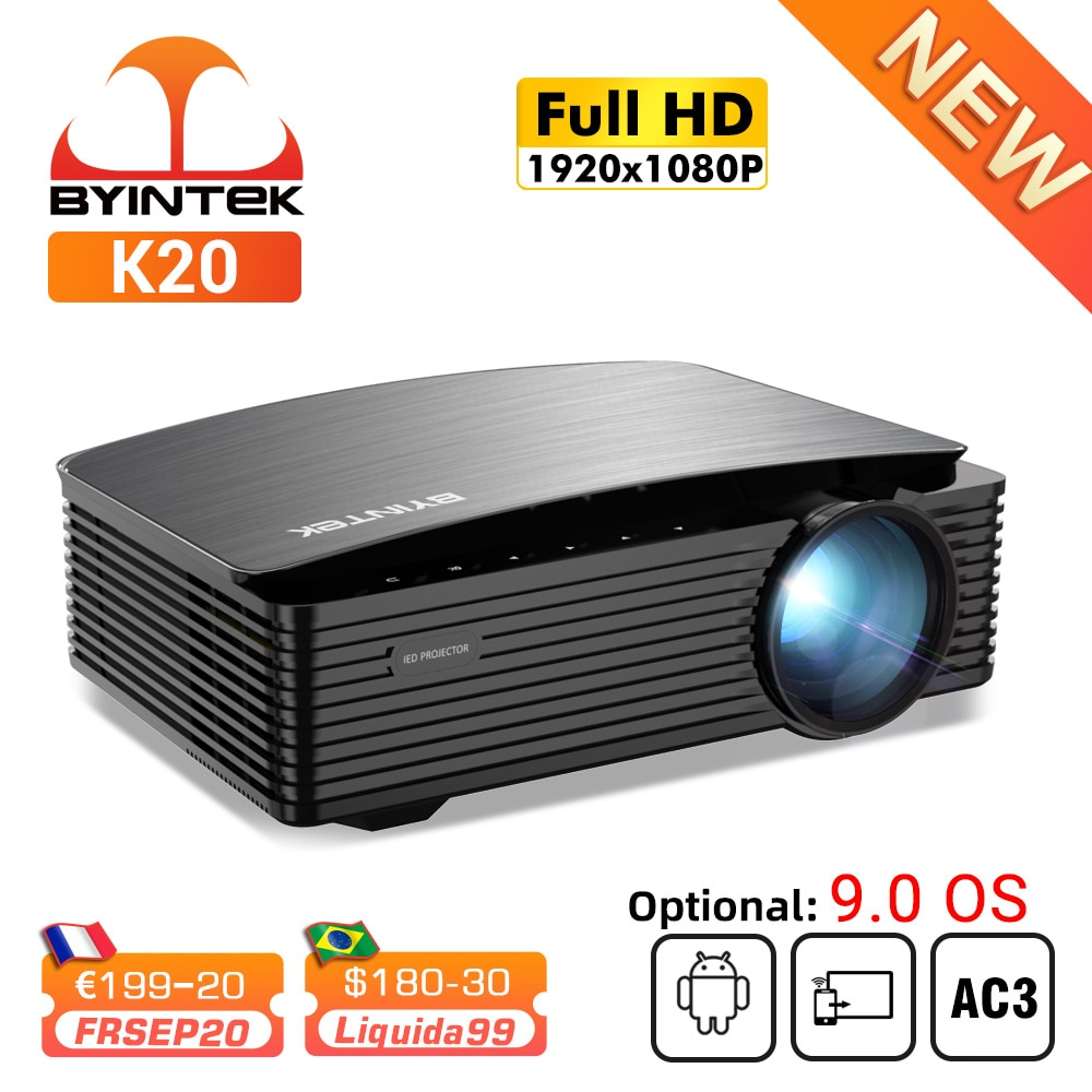 Review BYINTEK K25 Full HD 4K 1080P LCD Smart Android Wifi LED Video Home Theater Projector Beamer 3D for Movie Game Smartphone Tablet