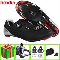 boodun road cycling shoes sapatilha ciclismo carbon fiber men sneakers women professional equipment self locking ride bicicleta