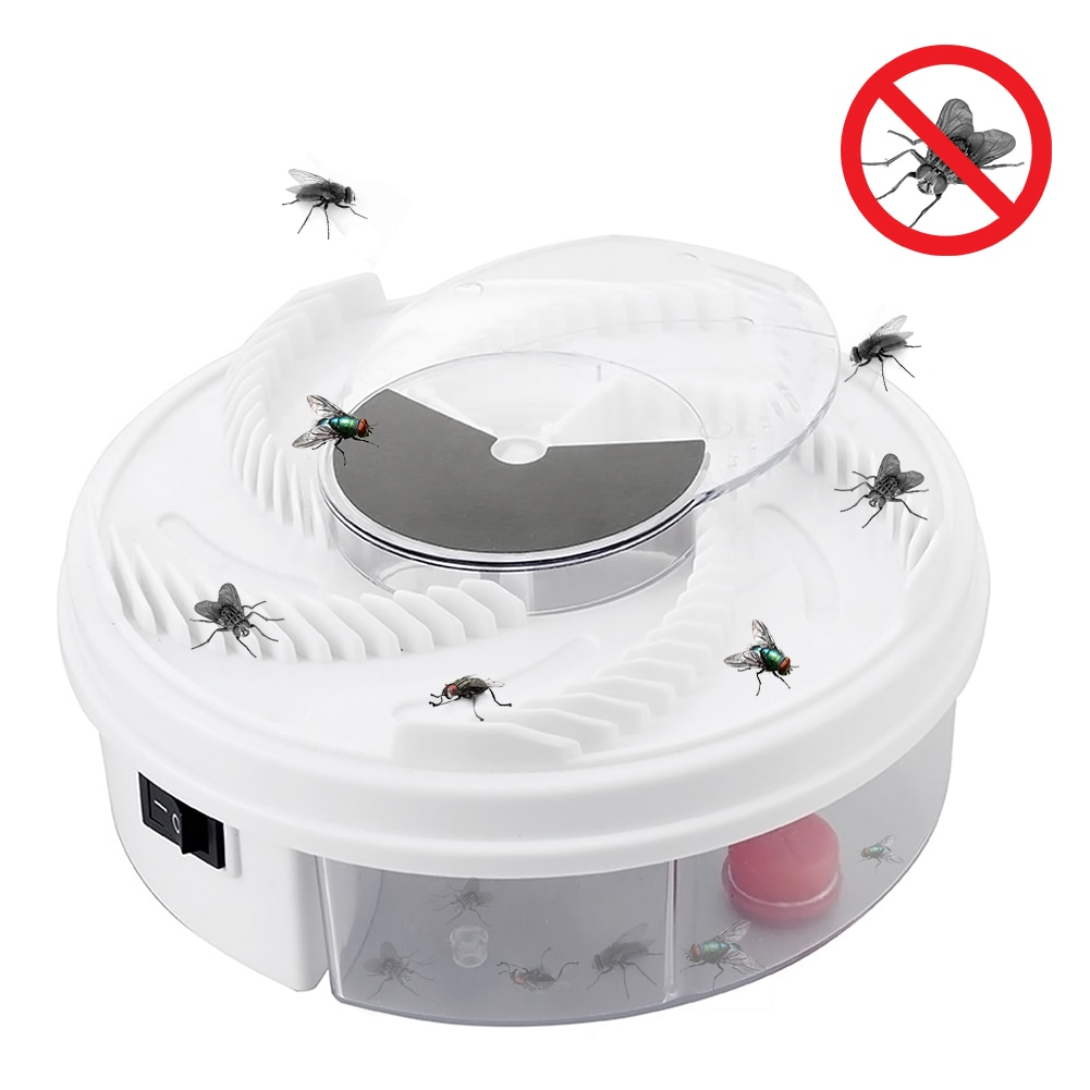1PCS Electric Fly Trap Device with Trapping Food Electric Flycatcher Artifact Trap Catching Artifacts Insect Insect Repellents недорого