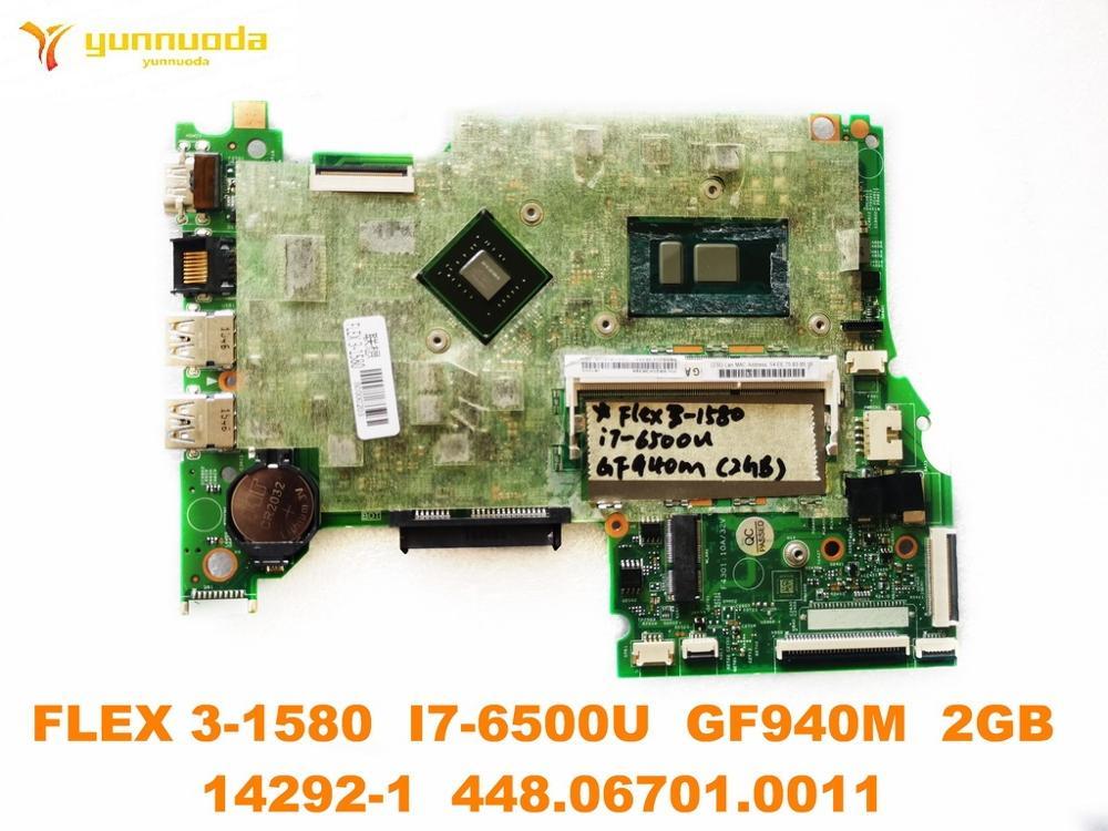 الأصلي لينوفو فليكس 3-1580 اللوحة المحمول فليكس 3-1580 I7-6500U GF940M 2GB 14292-1 448.06701.0011 اختبار جيدة شحن