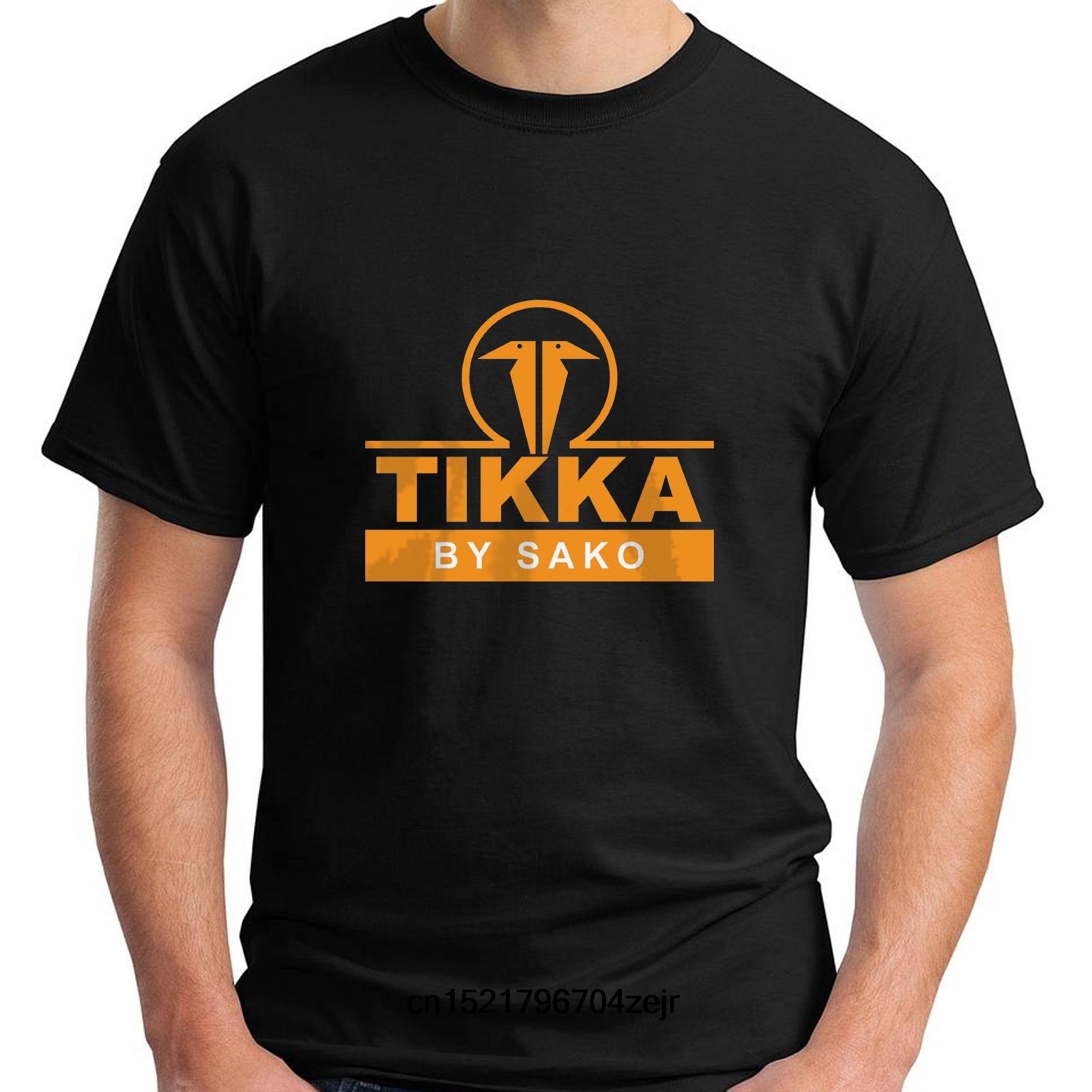 Men T shirt New TIKKA by SAKO Firearms Company Logo Gun Army Black funny t-shirt novelty tshirt women