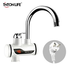 Tankless Instant Electric Water Heater Temperature Display Water Heating Kitchen Hot 3000W Water Hea