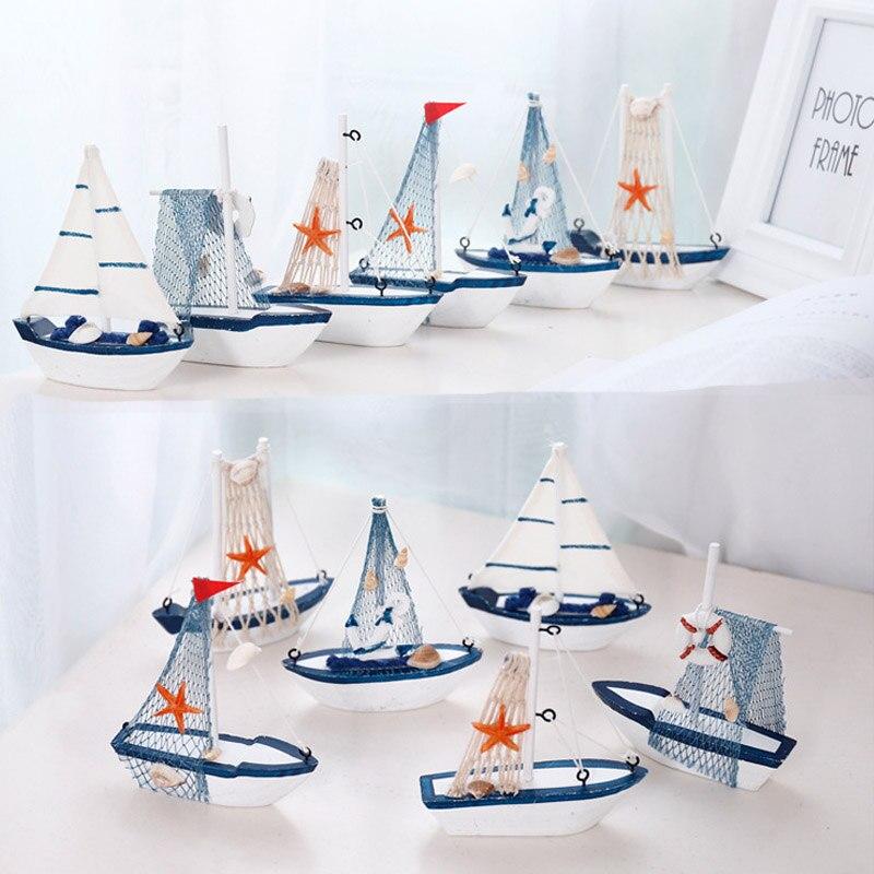 Горячая распродажа! Морской мореходный креативный режим парусника Декор для комнаты фигурки миниатюрные украшения в средиземноморском стиле корабль маленькая лодка