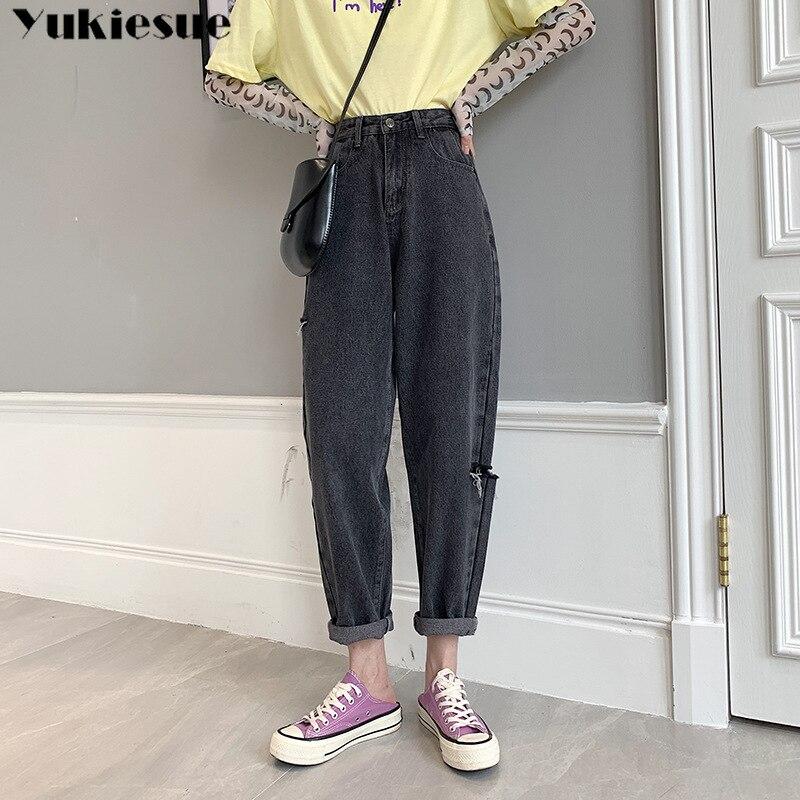 Otoño Vaqueros Pantalones Vaqueros de estilo Boyfriend para Mujer moda Vintage alta...