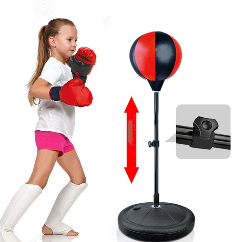 Punch Exercise Sports Set With Gloves KidsHobby Kids Punching Bag
