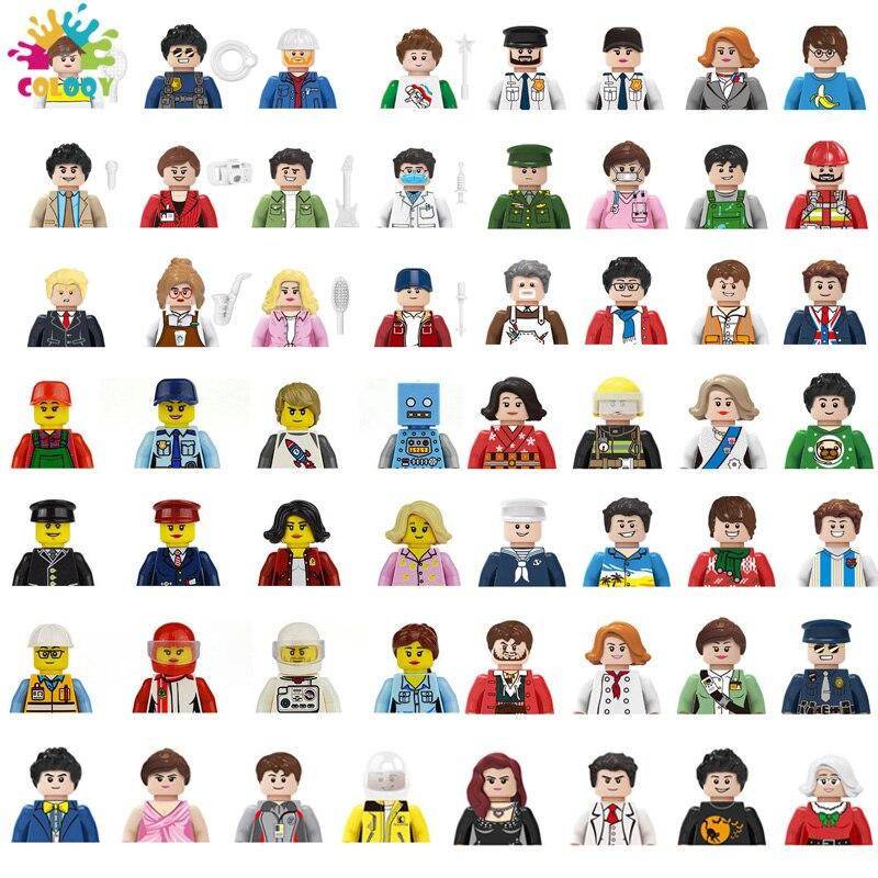 Детские игрушки: город, улица, вид, Оксфордские фигурки, строительные блоки, пожарный солдат, кирпичи, мини кукла, игрушки для детей, подарки ...