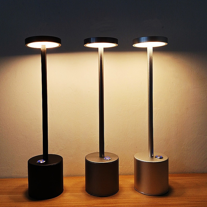 جديد المنزل السرير LED اللمس التبديل لمبة مكتب قابلة للشحن عنبر حماية العين مكتب ضوء شحن جو ضوء الليل