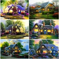 diy landscape 5d diamond painting full drill square kit scenery embroidery mosaic cross stitch wall art resin home decor gift