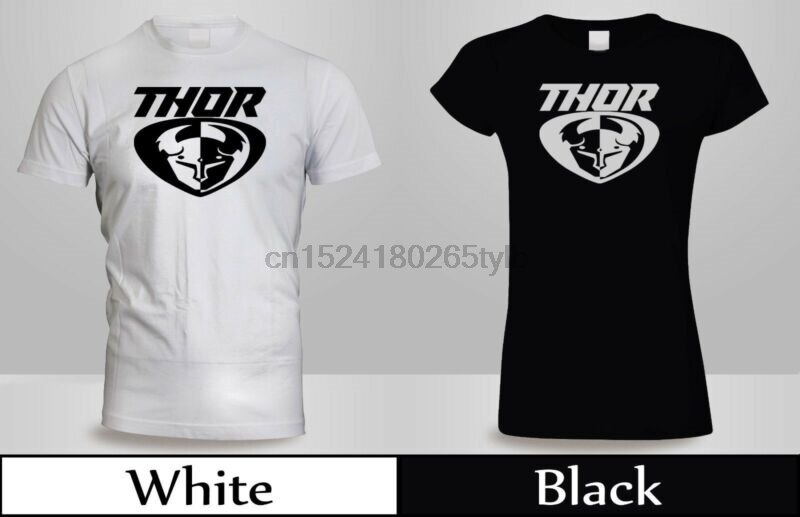 Thor MX Loud Motocross Off Road Dirt bicicleta Camiseta Hombre mujeres negro y blanco 3