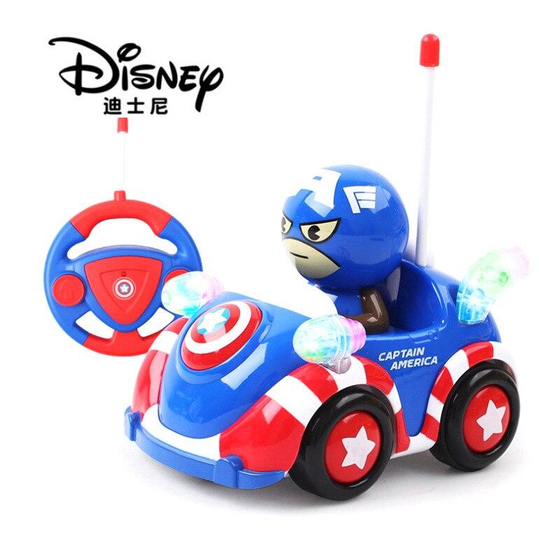Disney q versão do capitão américa carro de controle remoto crianças homem aranha brinquedos elétricos carro de controle remoto modelo presente para crianças