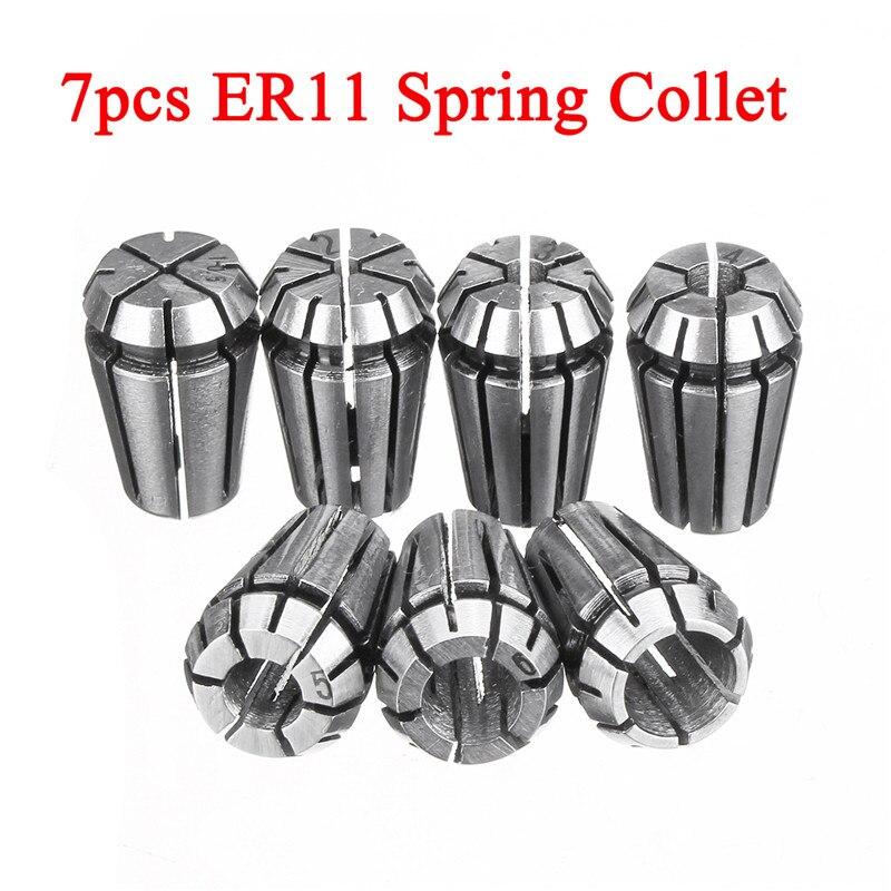 7 шт. ER11 1/2/3/4/5/6/7 мм пружинный цанговый резной станок фрезерный патрон держатель инструмента Цанга для ЧПУ гравировальный станок фрезерный т...
