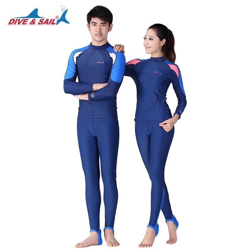 Mergulho & vela 2 peças de roupa de banho de secagem rápida homem mulher terno de surf upf 50 + mangas compridas rushguard wetsuits lycra mergulho pele