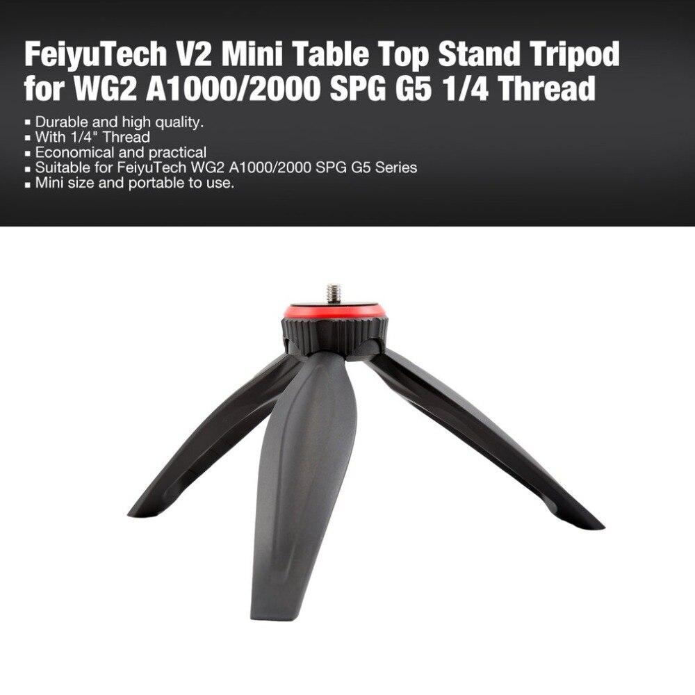 """Mini trípode de soporte de mesa de fotografía V2 para FeiyuTech WG2 A1000/2000 estabilizador de la serie SPG G5 con rosca de 1/4"""""""