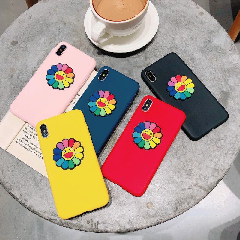 Горячая Корея 3D милый солнцезащитный цветок скраб ТПУ мягкий чехол для iphone 11Pro MAX XS XR 7 8plus для samsung S8 9 10Lite Note9 10 задние чехлы