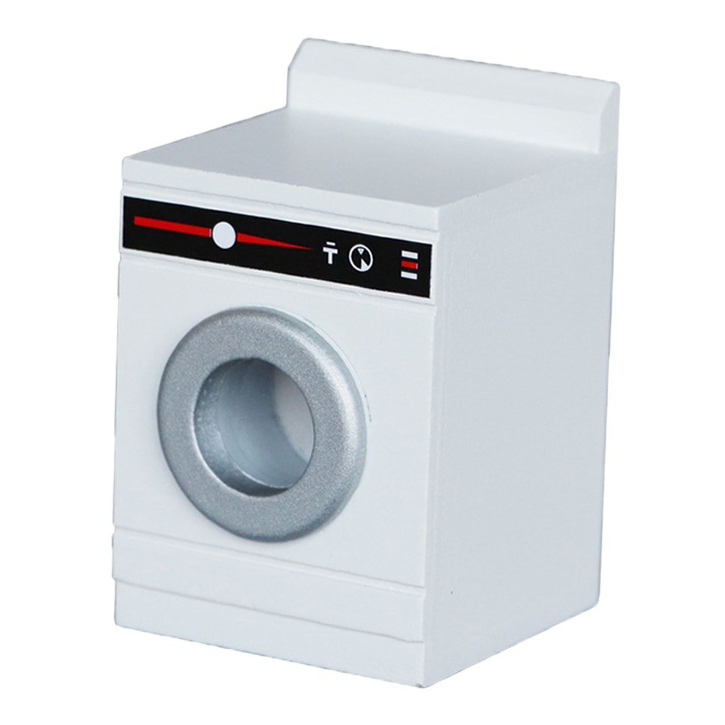 Dollhouse Washing Machine Household Appliance Model Washing Machine 1 12 scale dollhouse miniature household appliance model white drum washing machine