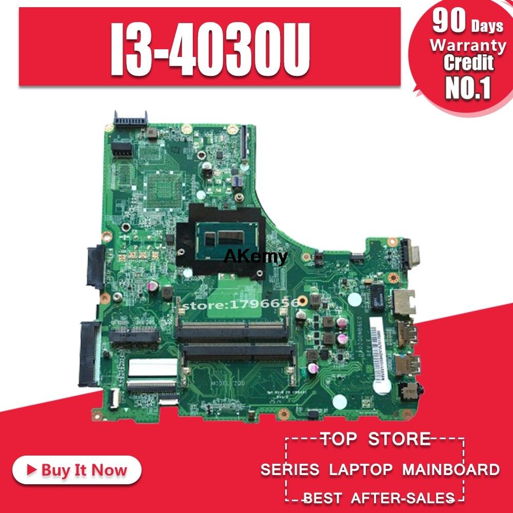 Para acer V3-472 E5-471 E5-471G V3-472P computador portátil placa-mãe da0zq0mb6e0 com I3-4030U cpu onboard 100% totalmente testado trabalho perfeito