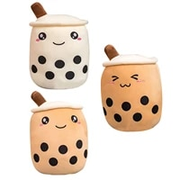 bubble tea plush toy fruit teacup pillow cushion stuffed food milk tea soft doll boba lover stuffed toy kid toy