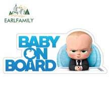 EARLFAMILY 13cm x 5.6cm pour bébé à bord dessin animé voiture autocollants vinyle JDM pare-chocs coffre camion graphiques pare-brise pare-chocs fenêtres