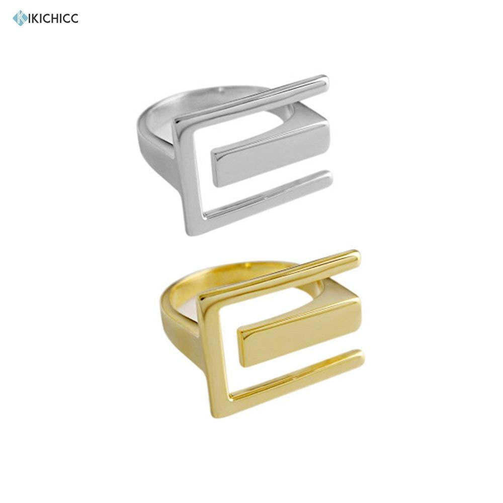 Kikichicc 925 anillo de plata de ley geométrico redimensionable círculo redondo 2020 de moda de lujo clásico partido declaración joyería
