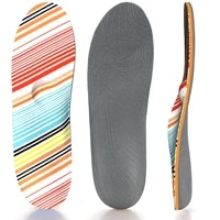 colorful lines high arch support insole memory foam orthopedic insoles for men and women ease foot pain