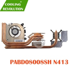 Nouveau dissipateur thermique et ventilateur de refroidissement dorigine pour MSI GF63 PABD08008SL 1.0A 5VDC N413 E322500300A8700I34001596