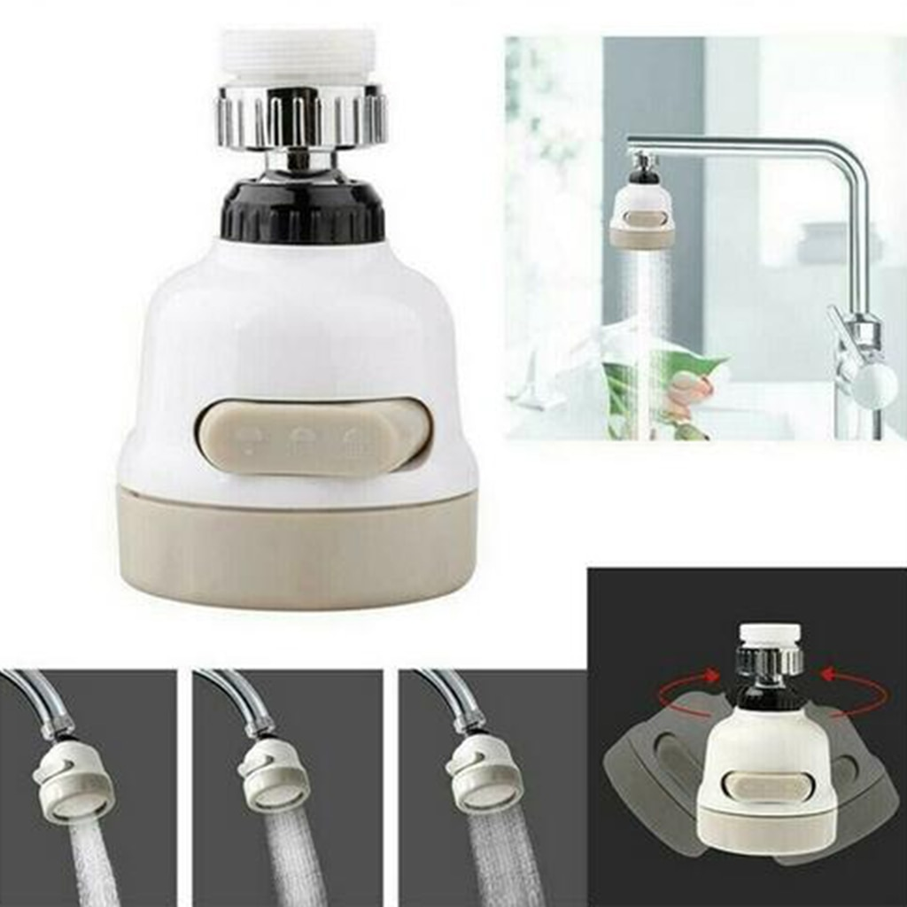 360° Swivel Faucet Tap Aerator Diffuser Nozzle Faucet Splash-Proof Filter 3 Gear Faucet Sprayer Head Female Thread Faucet Tap No
