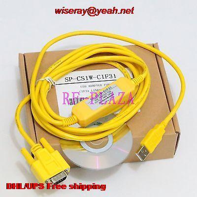DHL/EMS 10 piezas cable de programación CS1W-CIF31 para Omron WIN7 Vista USB a RS232 Conversion-A5