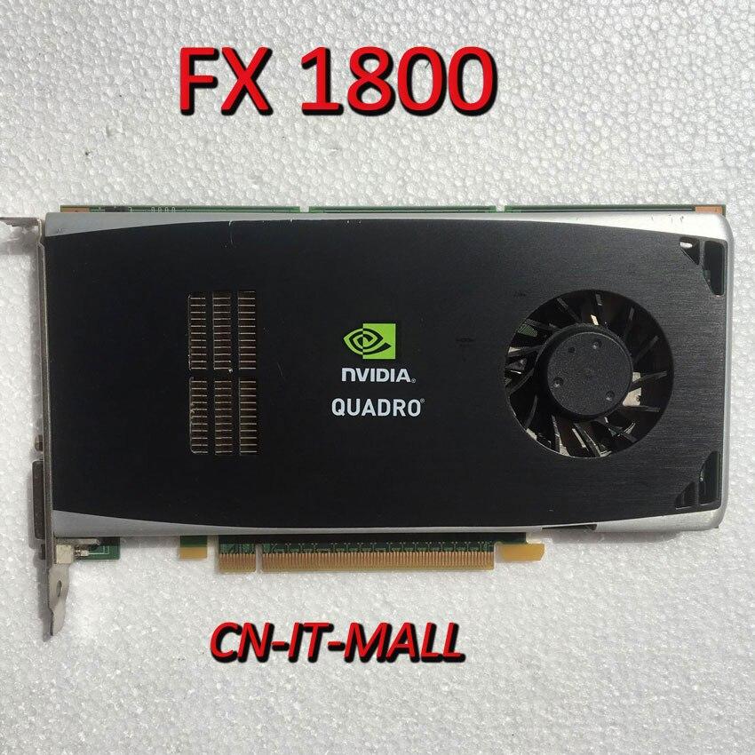 Tarjeta de vídeo Quadro FX1800 FX 1800 768MB Dual Displayport DVI PCI-E 2,0