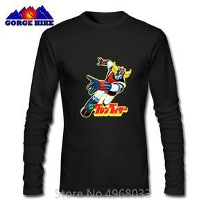 Japanese Anime Goldrake UFO Robot Grendizer Mazinger Z Print No Fade T-shirt Hombre Pure Cotton Men Casual T shirt Limited Tops