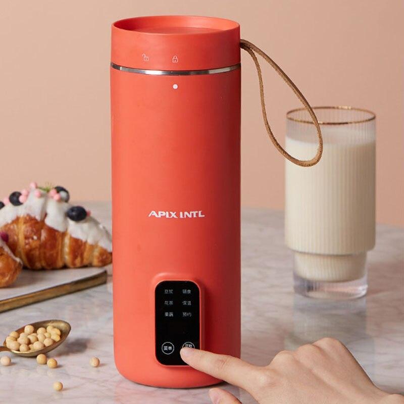 350 مللي آلة صنع حليب الصويا المحمولة عصارة خلاط طعام مولتيكوكر التدفئة حليب الصويا يحرك الأرز لصق صانع تصفية خالية