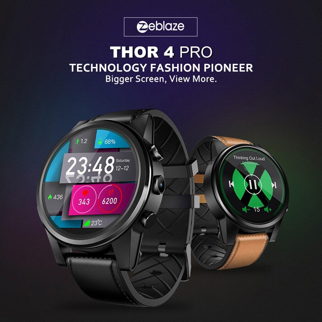 Zeblaze THOR4 Pro Android Quad Core 1GB + 16GB BT Cámara GPS 4G WiFi reloj Teléfono para Iphone para Xiaomi deportes 2 colores 20 #20