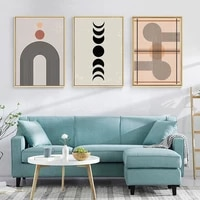 abstract sun moon wall art poster geometry canvas painting boho art prints minimalist wall pictures living room home decoration