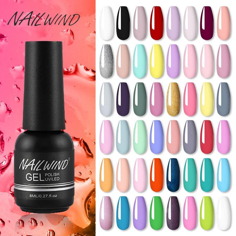 NAILWIND Gel Nail Polish Hybrid For All Manicure Set Semi Permanent UV LED Gel Varnish Base Top Nail