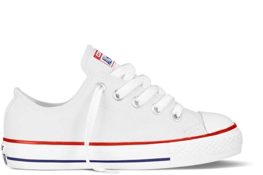 CONVERSE YOUTH CHUCK TAYLOR ALL STAR OX CLASSIC COLORS OPTICAL WHITE trainers-WHITE