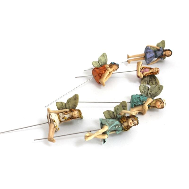 Fairy Garden - 6pcs Miniature Fairies Figurines Accessories for Outdoor or House Decor Fairy Garden Supplies