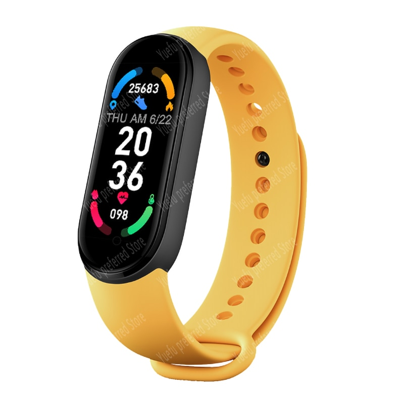 M6 smart wristband heart rate blood pressure sleep monitor pedometer Bluetooth connection men women smart watche for IOS Android
