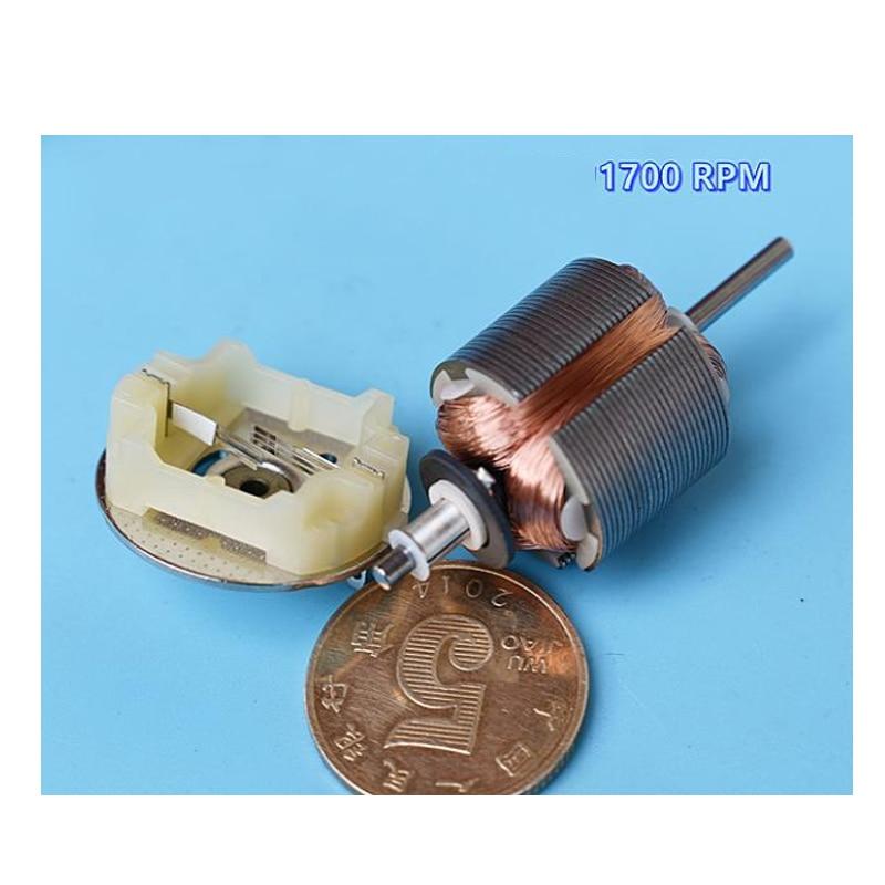 1Pcs Precious metal brush 370 motor DC24V-36V 1700RPM-2500RPM  ultra slow micro motor Micro Current Slow Speed motor