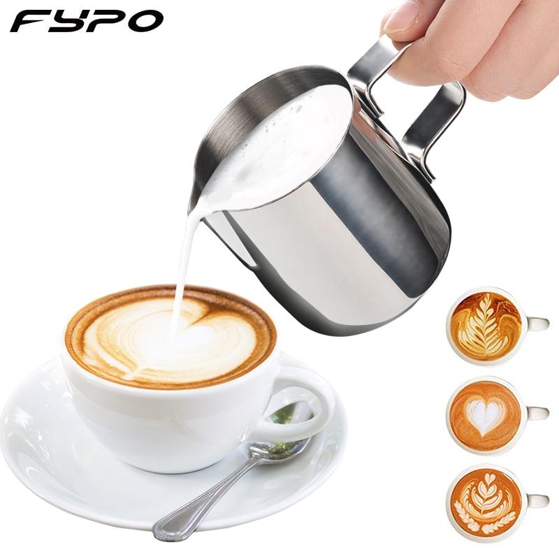 De acero inoxidable de 150ml taza de café vaporizador de leche taza de café Cappuccino crema de leche de taza de leche espuma jarra termo café con leche arte