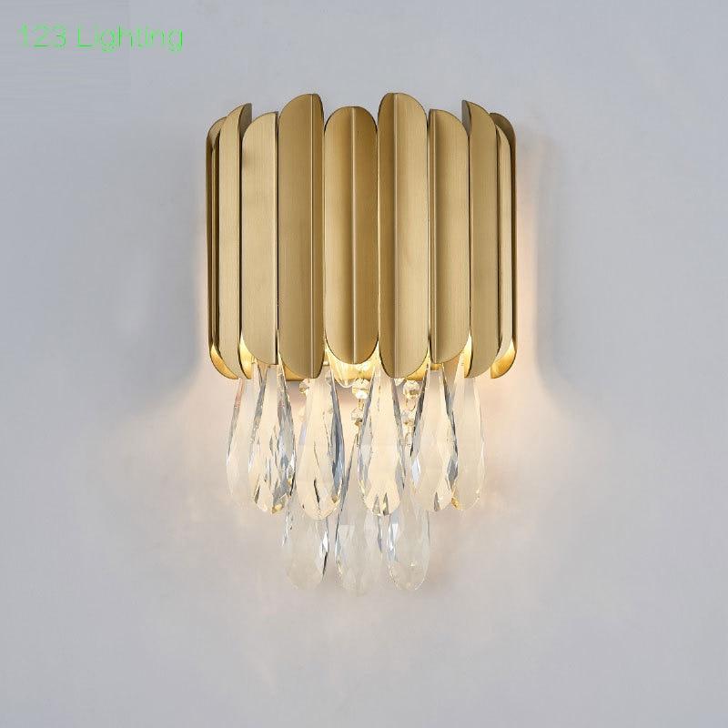 Post modern E14 LED Parlor Wall Sconce Bathroom Bedroom Wall lamp Corridor Wall light Gold/Black Metal 110/220V Home Decoration
