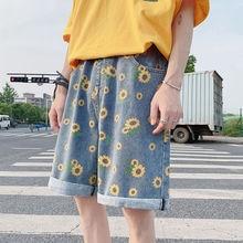 2020 Summer Men's Harem Casual Male Cotton Mens Shorts Jogger Multi-pocket Beach Fashion Loose Shorts Fashion Jeans Shorts S-2XL