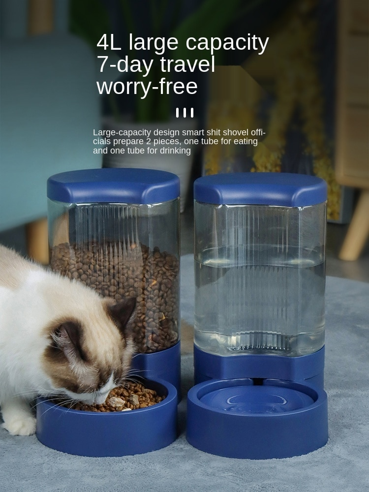 Cat Water Fountain Dog Automatic Pet Feeder Kettle Drinking Water Mouth Wet-Proof Feeding Water Water Fountain
