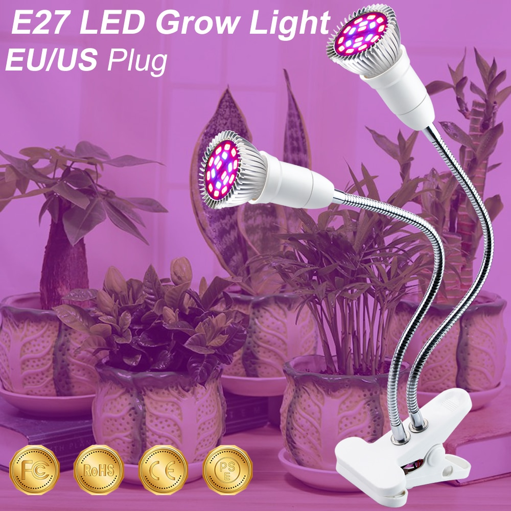 Indoor LED Grow Light 220V Growing Lamp 18W 28W LED Grow Light Full Spectrum For Plants Hydroponics Flowers Vegetables Grow