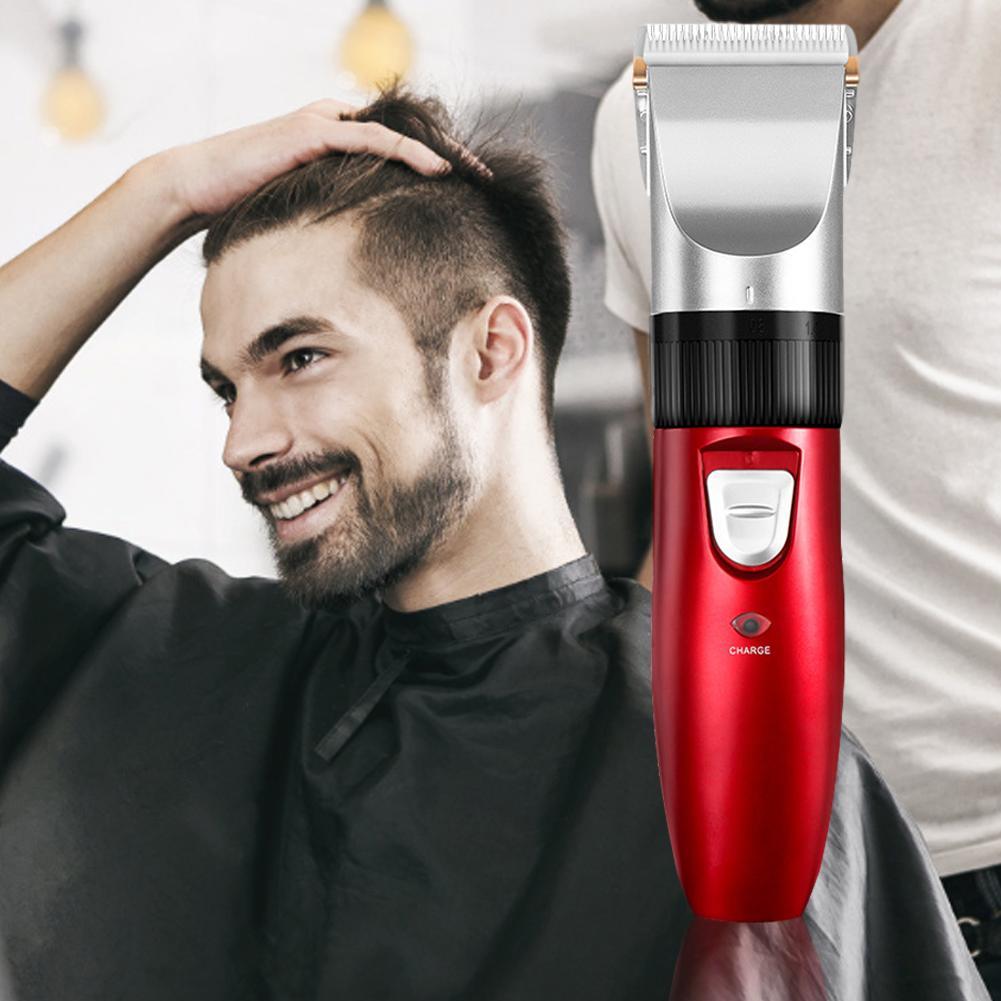 Máquina de cortar cabelo elétrica 7500 rpm/min forte powerceramic cortador cabelo rápido carregamento aparador cabelo adulto crianças tosquiadeira