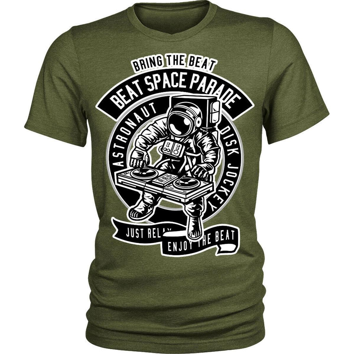 Astronauta Disk Jockey camiseta dj bring el ritmo Unisex Mens Tee camiseta Popular de Gran